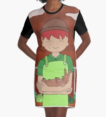 Farm Boy Graphic T-Shirt Dress