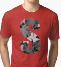 Autumn Leaves Letter S Tri-blend T-Shirt