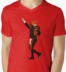 Baker Mayfield's First Win Men's V-Neck T-Shirt