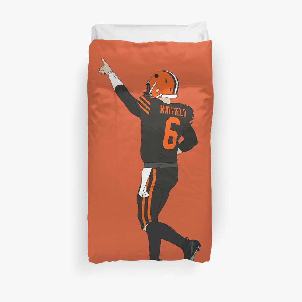 Baker Mayfield's First Win Duvet Cover
