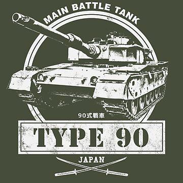 Type 90 Japan Main Battle Tank by RycoTokyo81