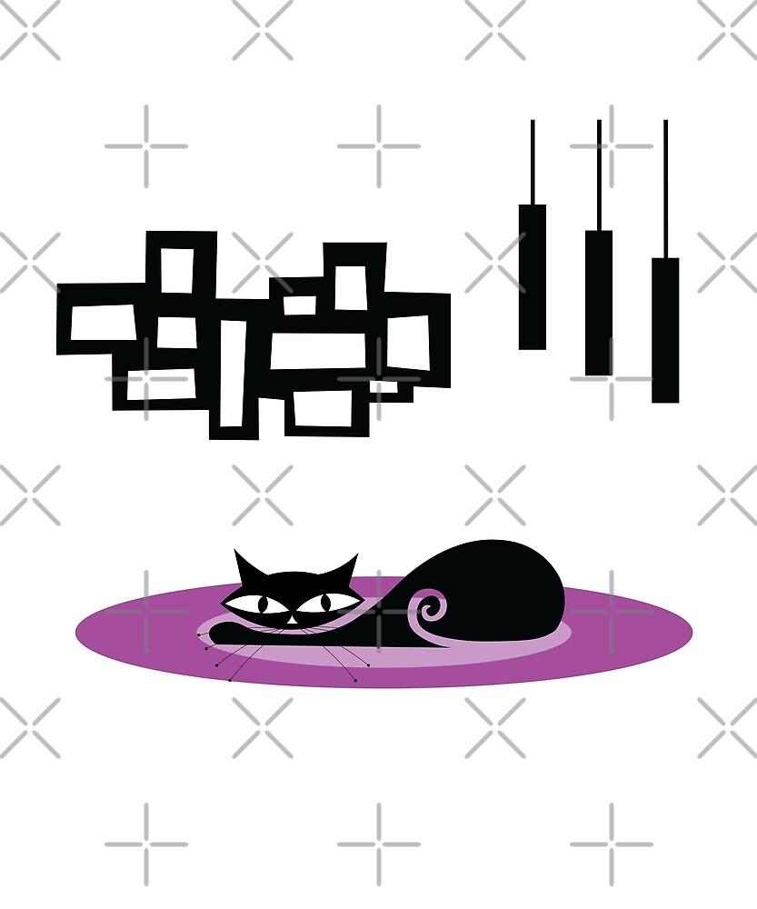 Mid Century Modern Cat by designkitsch