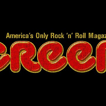 CREEM: America's Only Rock 'n' Roll Magazine Logo (Red, Distressed) by PissAndVinegar
