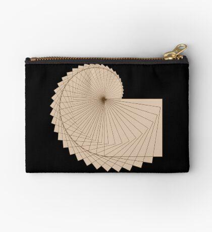 Geometric Spiral 001 Zipper Pouch
