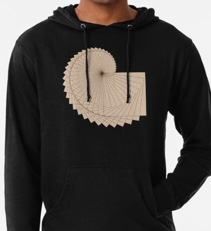 Geometric Spiral 001 Lightweight Hoodie