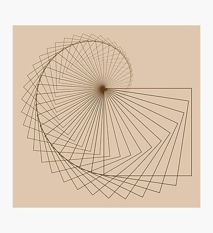 Geometric Spiral 001 Photographic Print