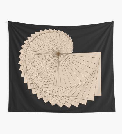 Geometric Spiral 001 Wall Tapestry