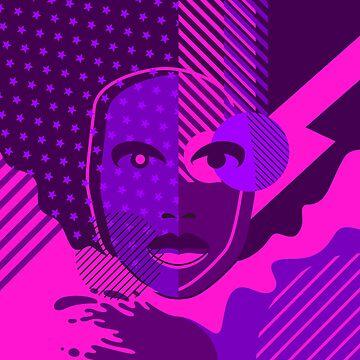 Pop Art Woman pink digitalart tshirt gift by Netsrikfa