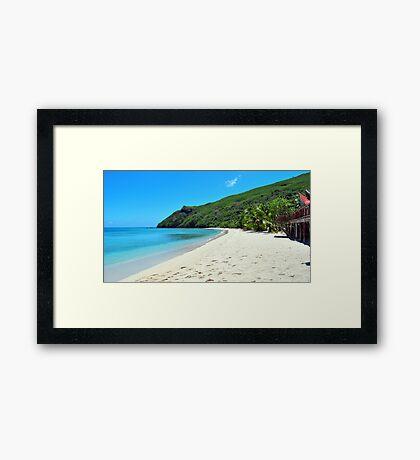 Botaira Beach, Niviti Island Framed Print
