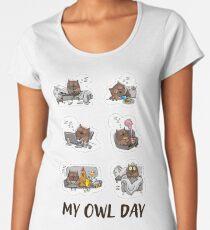 Owl day. Owl art Women's Premium T-Shirt