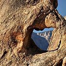 Window in Rock by Barbara  Brown