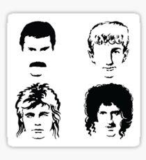 Queen Faces Sticker