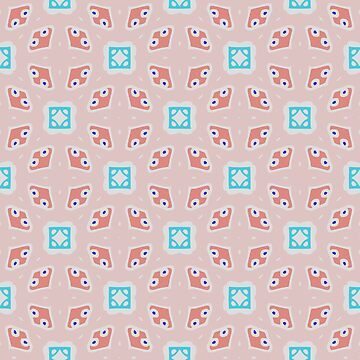 Geometric pattern retro style pink by xsylx