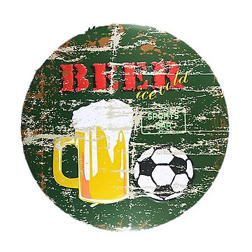 Beer Football Sports bar Vintage distressed sign Soccer  by Glyn123