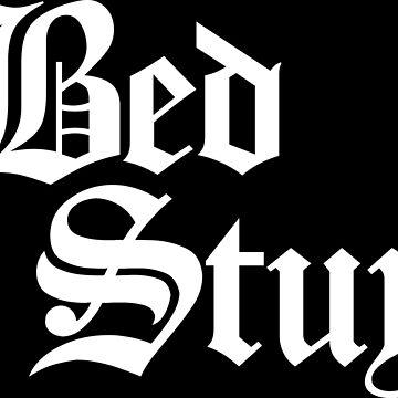 Bed Stuy Gothic Brooklyn (White Print) by smashtransit