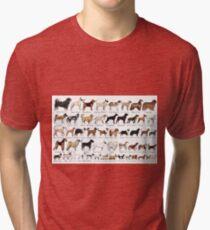 Purebred Dog Breeds Tri-blend T-Shirt