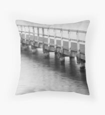 Afternoon at the jetty Throw Pillow