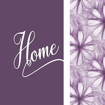 Home word design flower graphic nature pencil drawing by xsylx