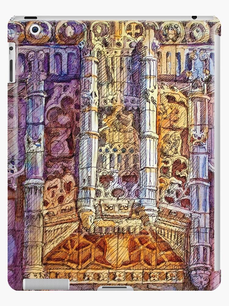 Mosteiro dos Jerónimos. stone crown above Sta. Maria de Belém  by terezadelpilar ~ art & architecture