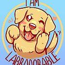 I am Labradorable - Golden Labrador by TechraNova