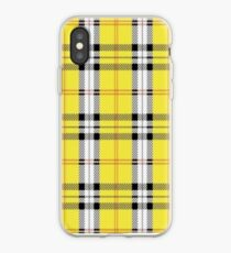 wildflower yellow plaid iPhone Case