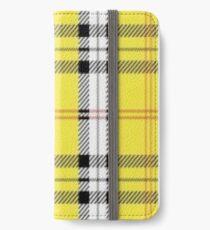 Wildblumengelb kariert iPhone Flip-Case/Hülle/Klebefolie