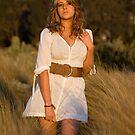 Lisette in the white dress by Stephen Colquitt