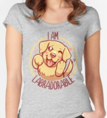 I am Labradorable - Golden Labrador Fitted Scoop T-Shirt