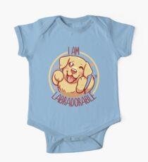 I am Labradorable - Golden Labrador One Piece - Short Sleeve