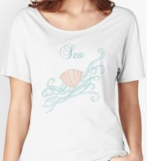Shell with waves Women's Relaxed Fit T-Shirt