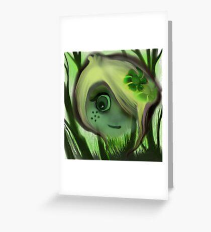 tree ghost Greeting Card