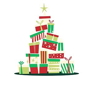 Tree of Christmas Presents and Gifts Tshirt by jacoolda