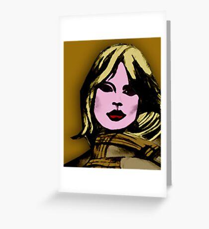 blonde girl Greeting Card