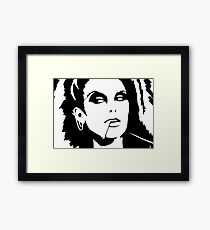 Black Ink Portrait #2 (Darkwave) Framed Print