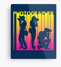 Retro 1980s Photographer Metal Print