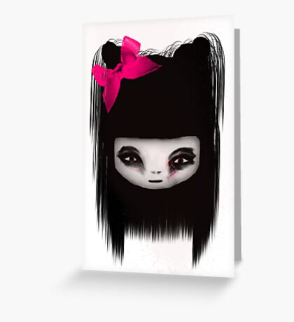 little scary doll Greeting Card