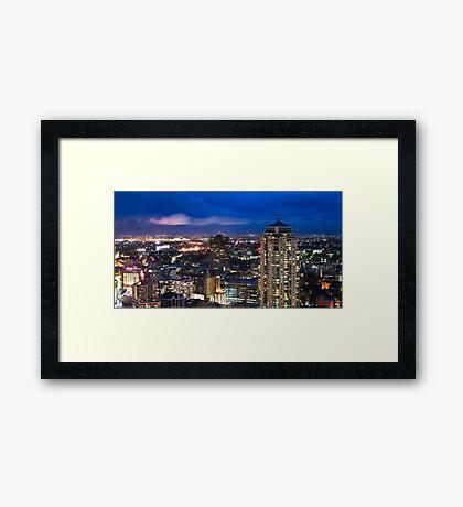 Haymarket Twilight Framed Print