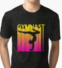 Retro 1980s Gymnast Tri-blend T-Shirt