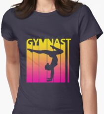 Retro 1980s Gymnast Women's Fitted T-Shirt