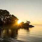Bright Sunshiny Day - Summer Sunrise on Lake Ontario by Georgia Mizuleva