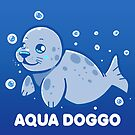 Aqua Doggo - Funny Seal by TechraNova