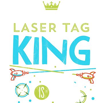 6 Year Old Laser Tag King Birthday Party 6th Birthday Tshirt by noirty