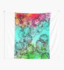 In my garden of colours Wall Tapestry