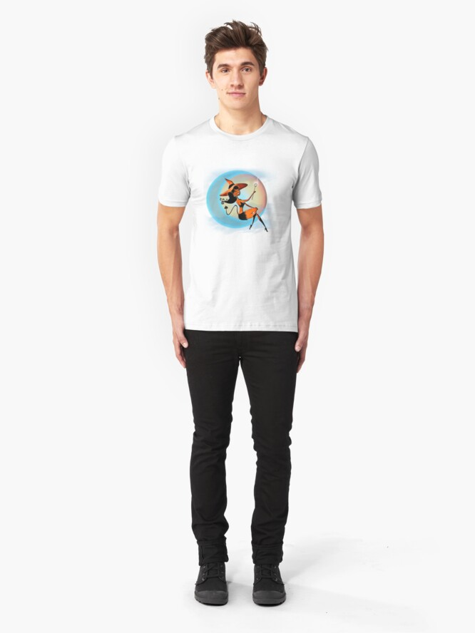 Alternate view of Devil Girl - Halloween 5 Slim Fit T-Shirt