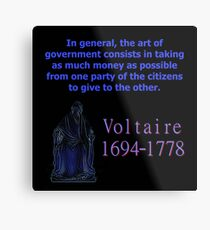 In General The Art Of Government - Voltaire Metal Print