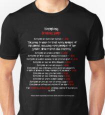 1Term Tony/ Drinking Game/ Black Tshirts Unisex T-Shirt