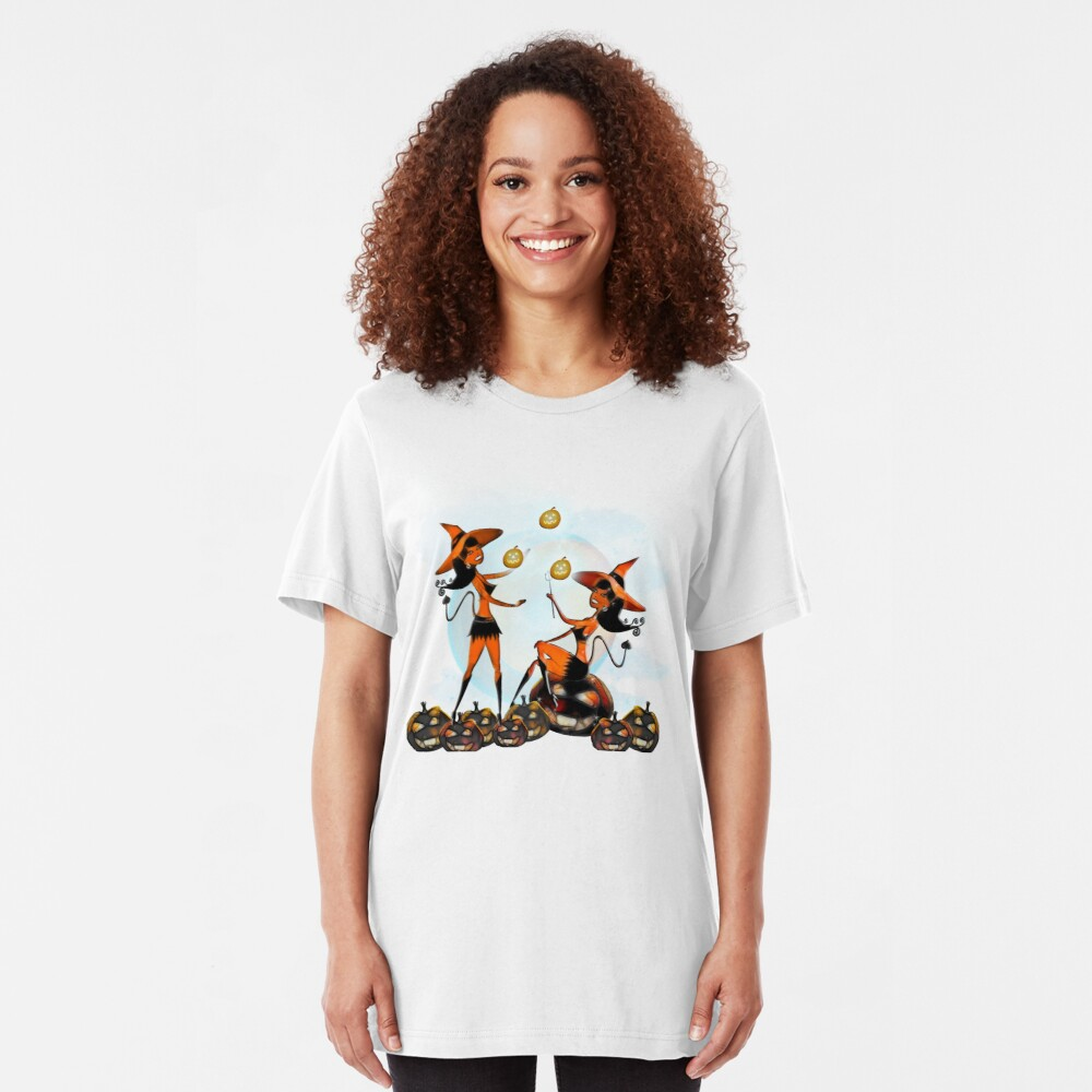 Devil Girl - Halloween 7 Slim Fit T-Shirt