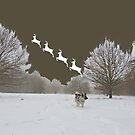 Reindeer Departure (With Elkhound) by CreativeEm