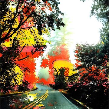 autumn drive, abstractphotography by ackelly4