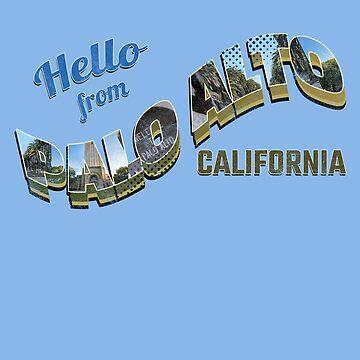 Hello From Palo Alto, California - Geek Gear for Students, Entrepreneurs - Souvenir by sparkpress